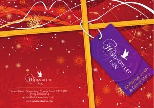 COver for the Christmas menu for the Wildfowler Inn